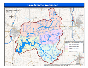 Lake Monroe Watershed and Subwatershed