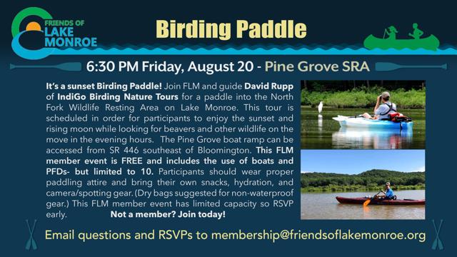 Birding Paddle August